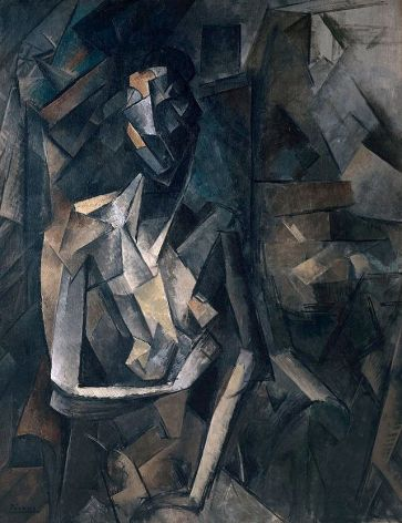 Pablo_Picasso,_1909-10,_Figure_dans_un_Fauteuil_(Seated_Nude,_Femme_nue_assise),_oil_on_canvas,_92.1_x_73_cm,_Tate_Modern,_London